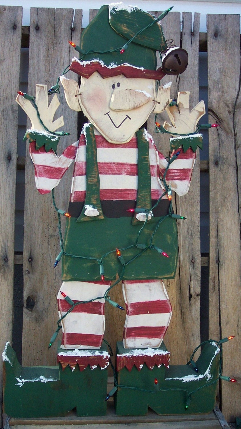 Free Wood Craft Patterns  Santa s Christmas Elf Wood Craft Pattern for Winter