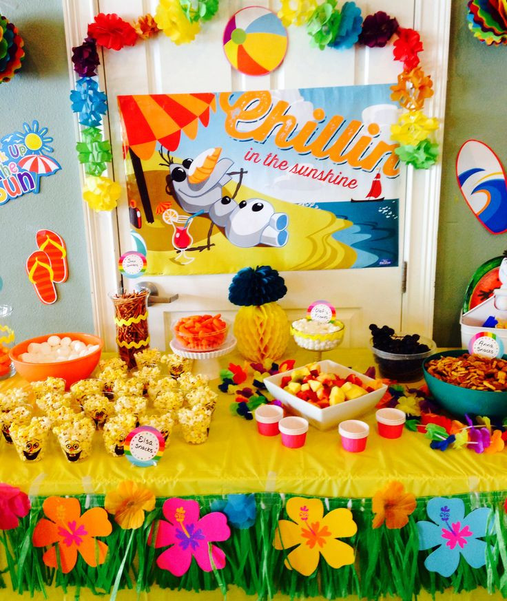 Frozen Birthday Party Ideas For Summer  25 best ideas about Olaf Party on Pinterest