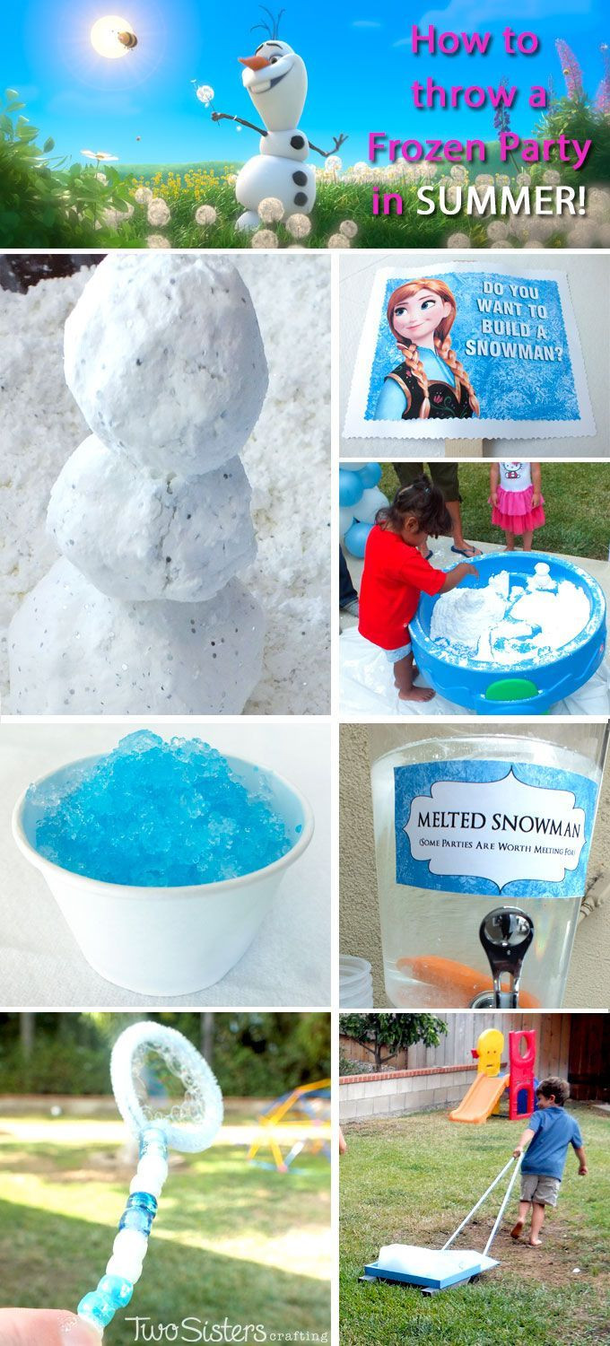 Frozen Birthday Party Ideas For Summer  83 best Olaf Beach Birthday Party images on Pinterest