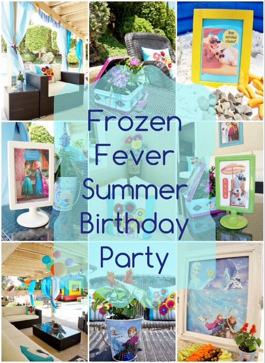 Frozen Birthday Party Ideas For Summer  Many great and unique Frozen Fever Birthday Party ideas