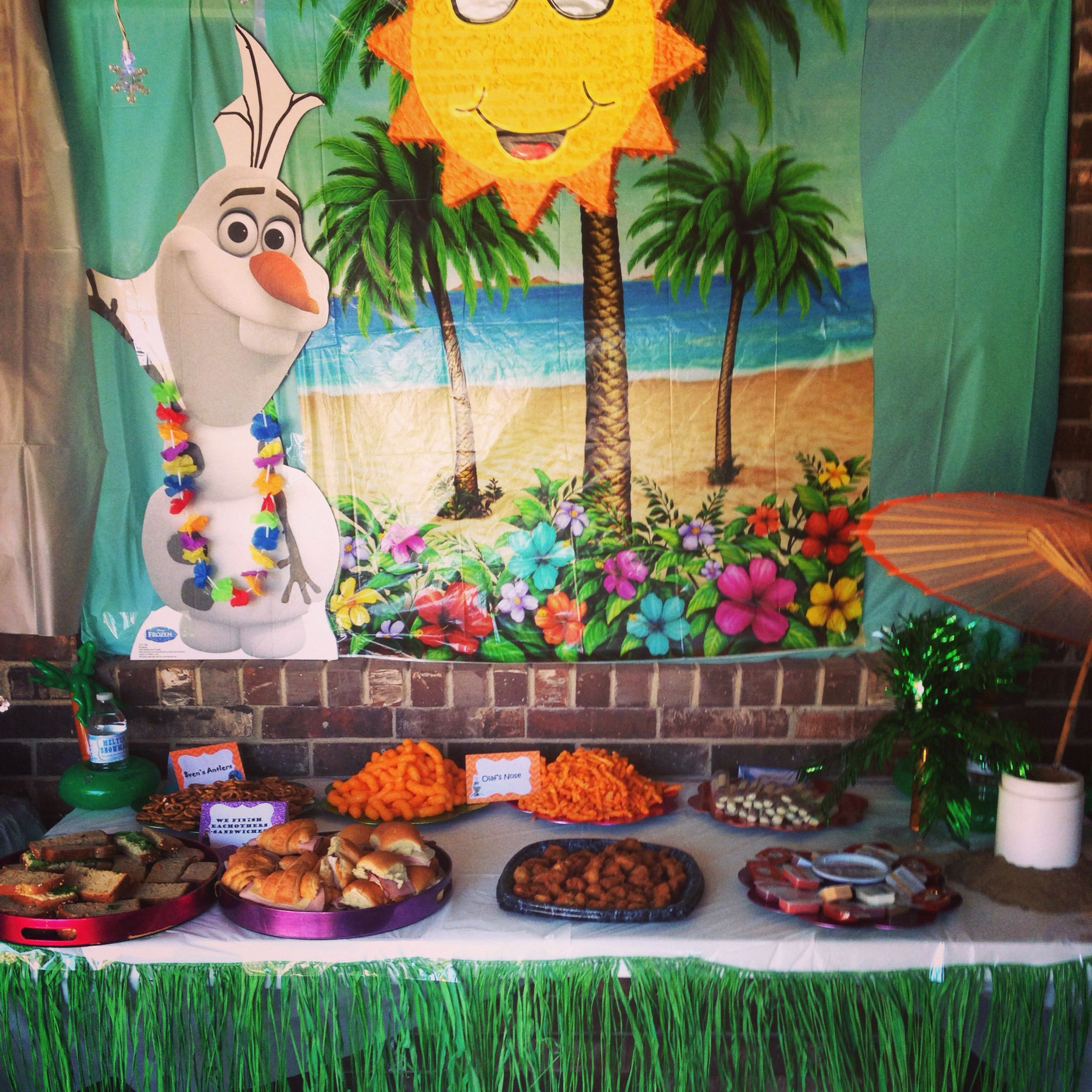 Frozen Birthday Party Ideas For Summer  Olaf loves summer party