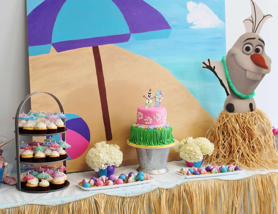 """Frozen Birthday Party Ideas For Summer  Frozen Disney Birthday """"Summer Frozen Bash """""""