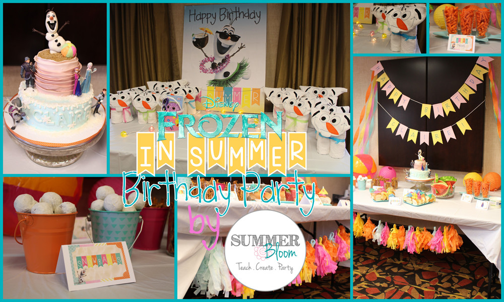 Frozen Birthday Party Ideas For Summer  Check out this adorable Frozen In Summer Themed Birthday