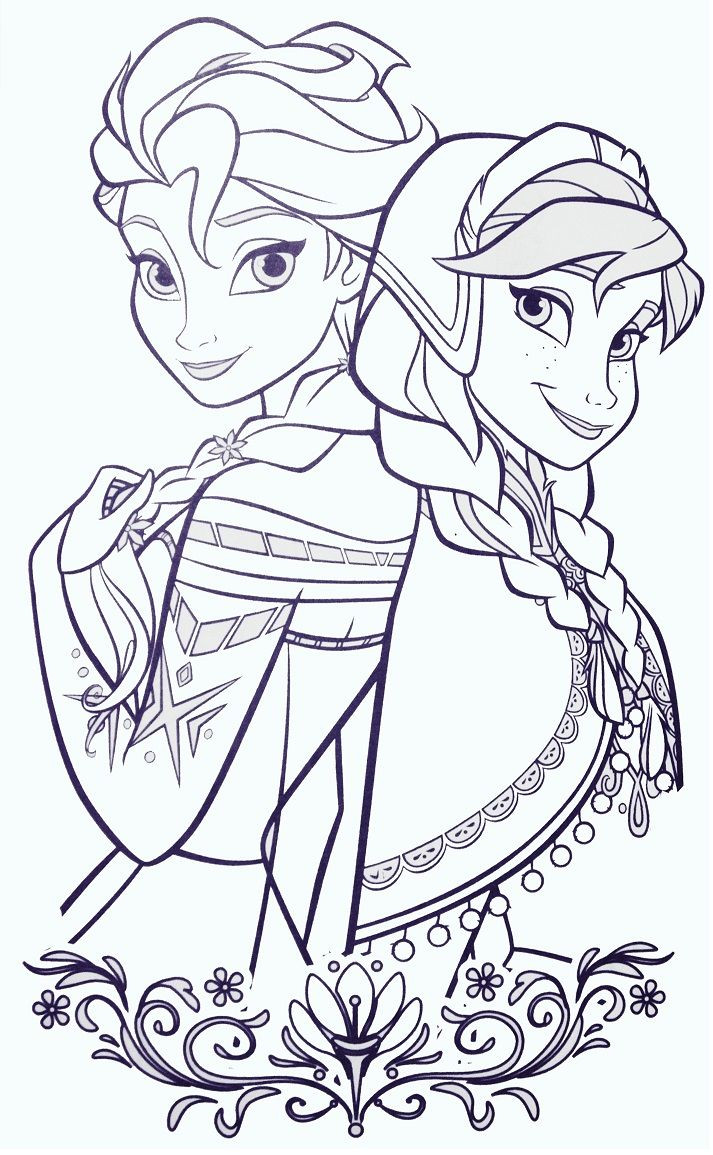 Frozen Coloring Books For Kids  Elsa and ANna Coloring Sheets