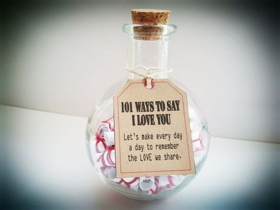 Fun Gift Ideas For Girlfriends  Anniversary Gifts Gift of Love 101 Ways to say I Love