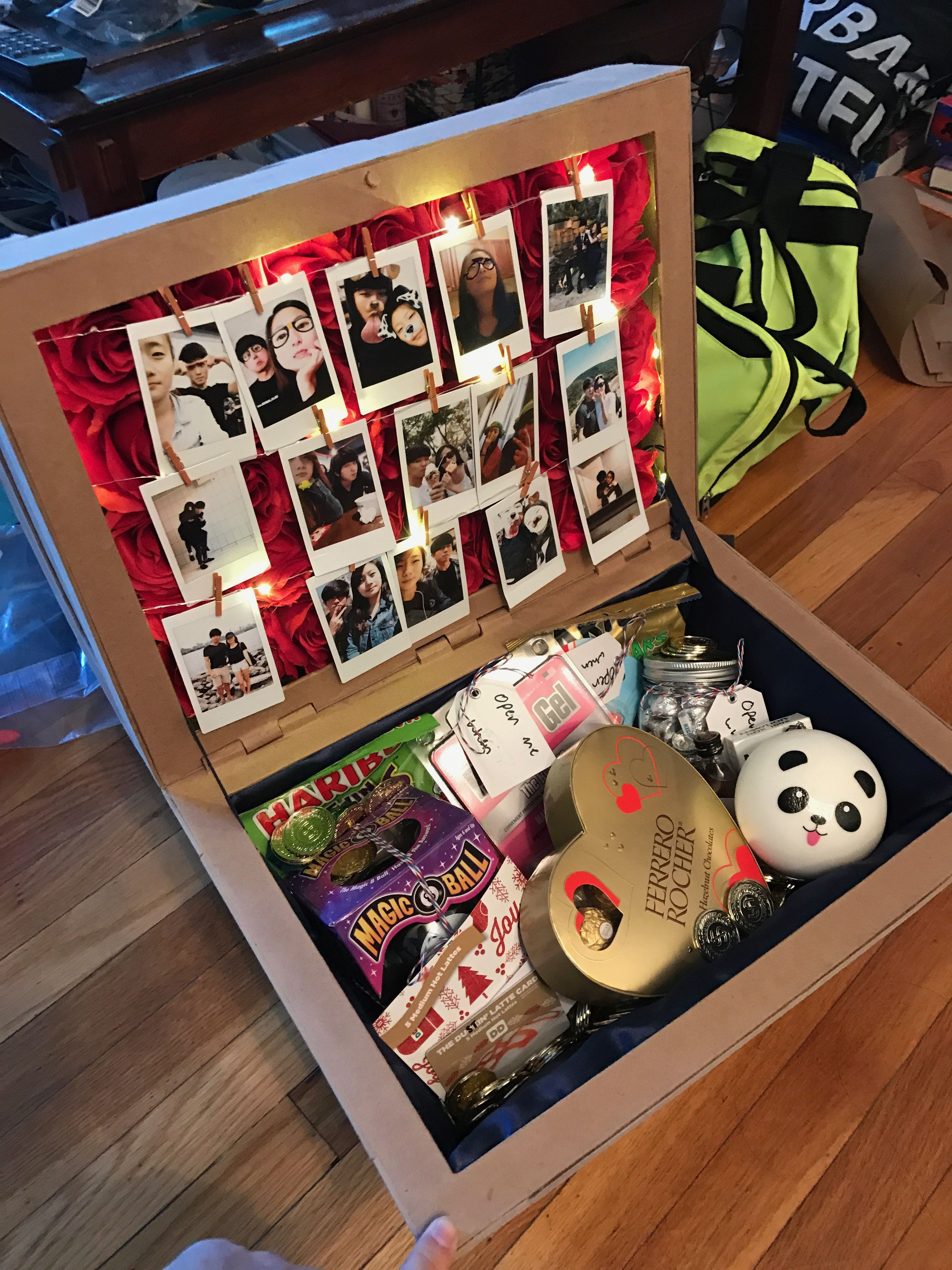 Fun Gift Ideas For Girlfriends  I made a Treasure Chest out of paper for my girlfriend