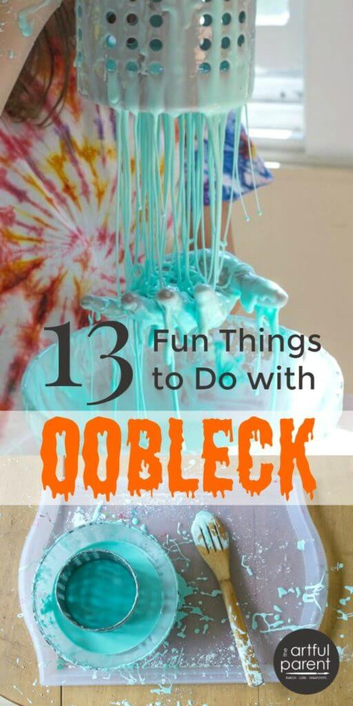 Fun Things To Make With Kids  13 Super Fun Things to Do with Oobleck A Sensory Goop for