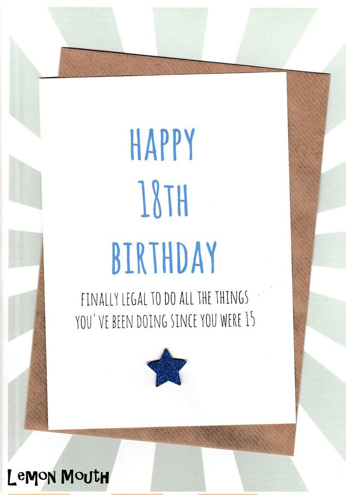 Funny 18Th Birthday Gifts  18th Birthday Greetings Card Friends Funny Humour