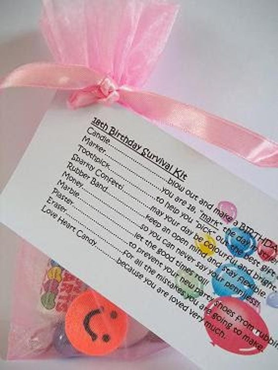 Funny 18Th Birthday Gifts  18th Birthday Girl Survival Kit Novelty Fun by