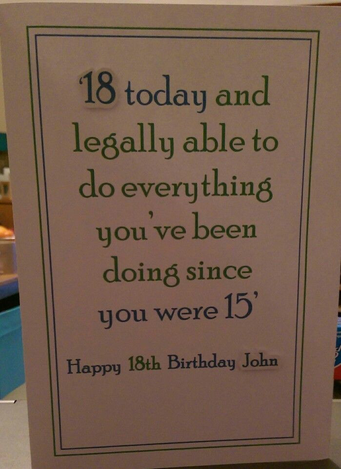 Funny 18Th Birthday Gifts  CARDS Male 18th birthday card … Cards