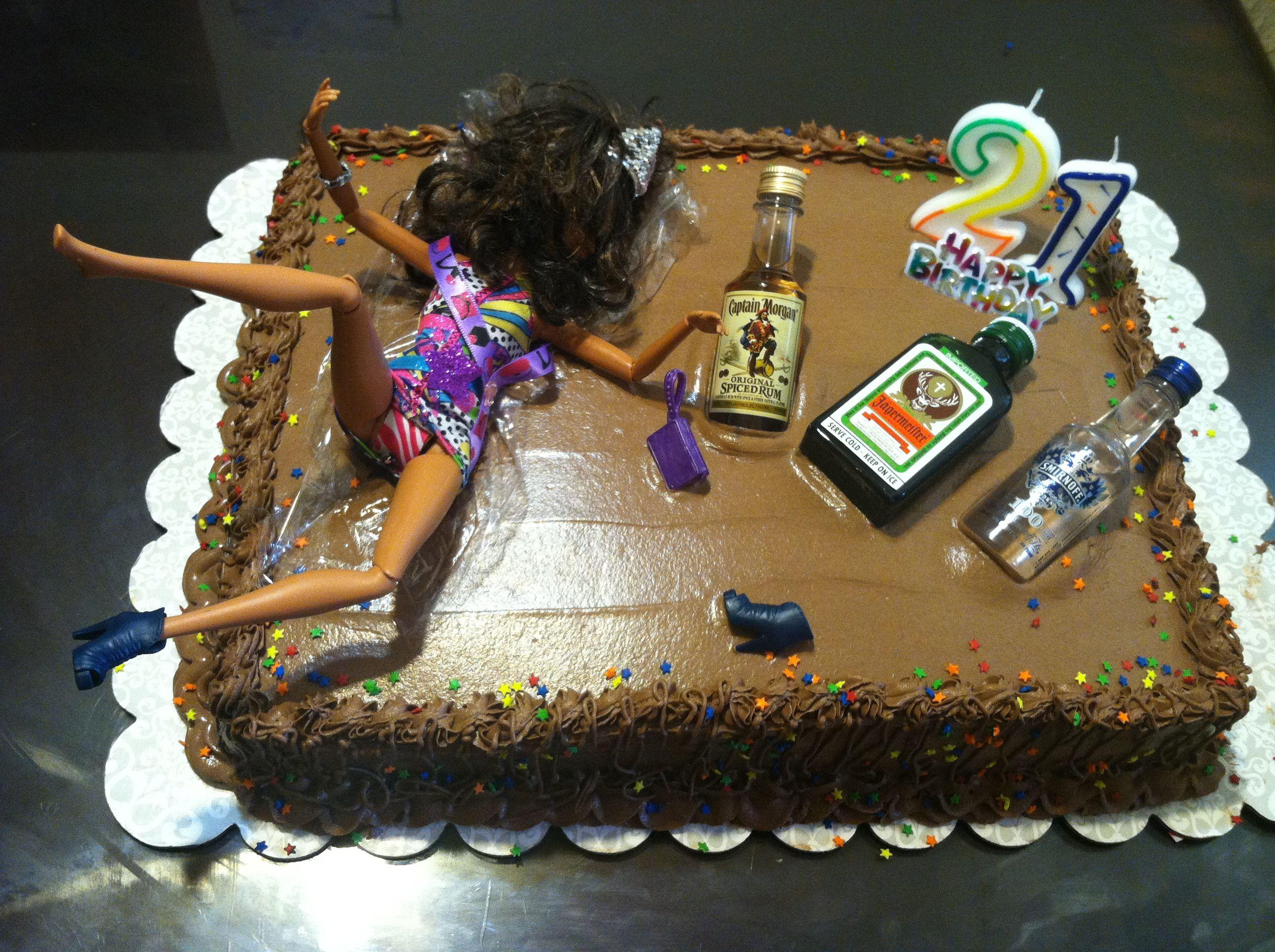 Funny Birthday Cake  ok this is pretty funny 21st birthday cake