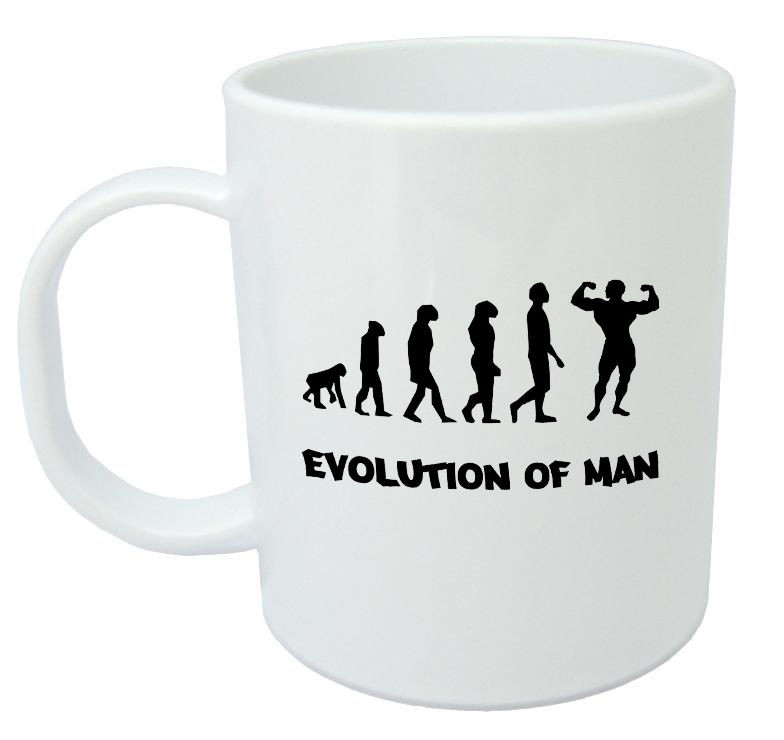 Funny Birthday Gifts For Men  Evolution Bodybuilding Mug Funny Gifts For Men Men s