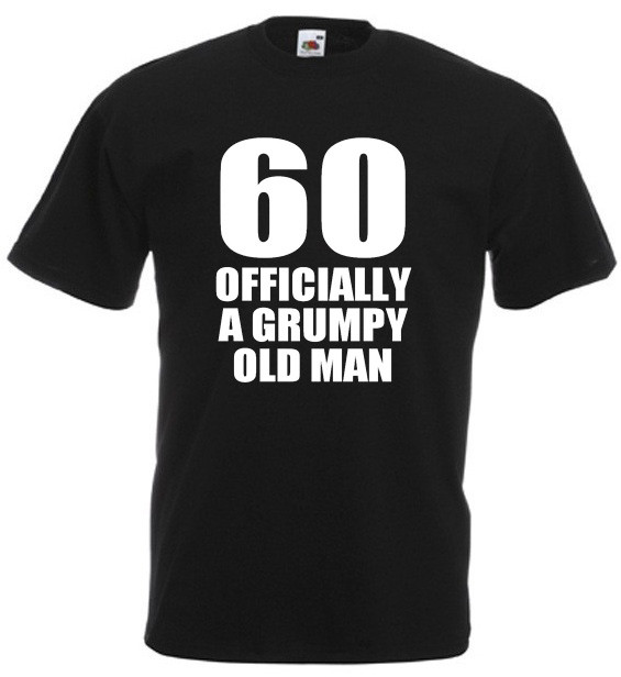 Funny Birthday Gifts For Men  60 ficially A Grumpy Old Man – Men's Funny 60th birthday