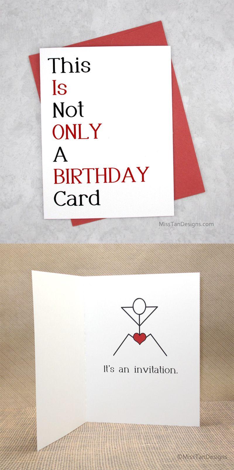 Funny Gift Ideas For Boyfriend  Boyfriend Birthday Cards Not ly Funny Gift y
