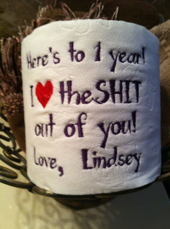Funny Gift Ideas For Boyfriend  1st Paper Annniversary Funny Gift Personalized with Name