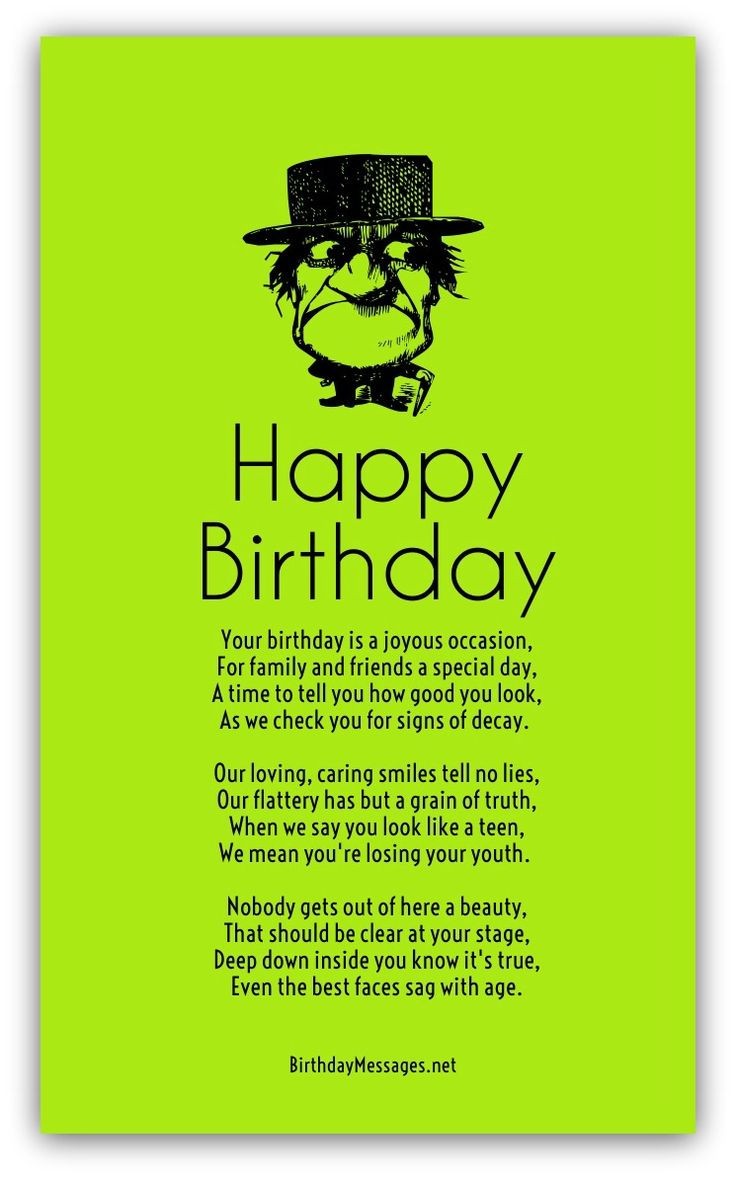 Funny Happy Birthday Quotes For Her  Funny Birthday Poems Page 2 Cards