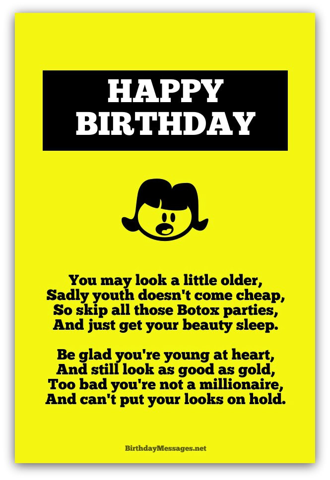 Funny Happy Birthday Quotes For Her  Funny Birthday Poems Funny Birthday Messages