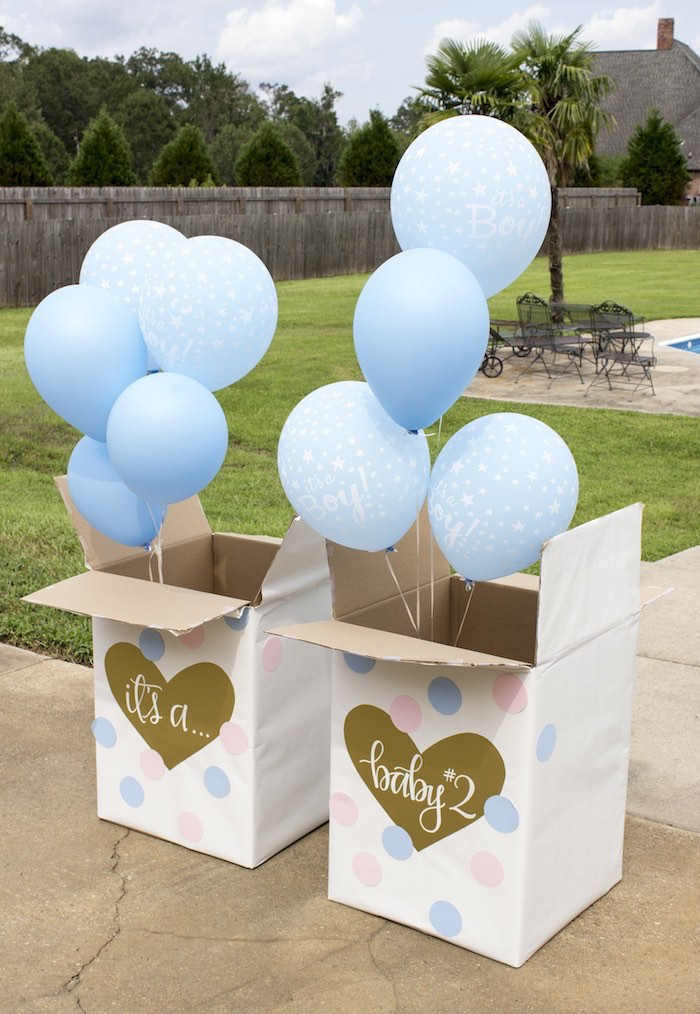 Gender Reveal Ideas For Party  Kara s Party Ideas Ice Cream Social Gender Reveal Party