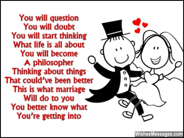 Getting Married Quotes Funny  Funny Wedding Card Poems Congratulations for Getting