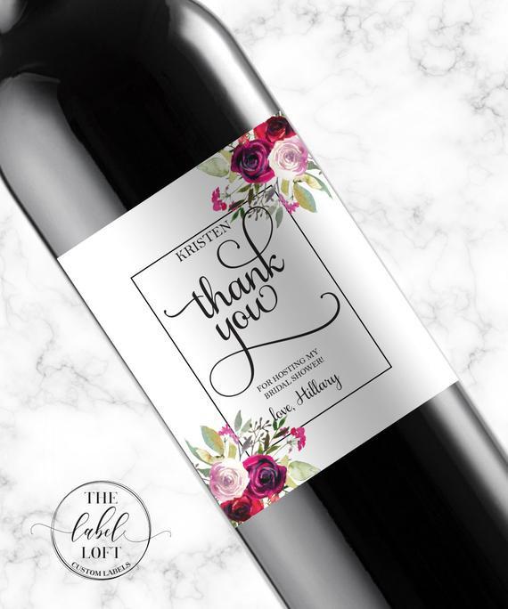 Gift Ideas For Baby Shower Host  Shower Hostess Gift Wine Labels Baby Shower Hostess Gift