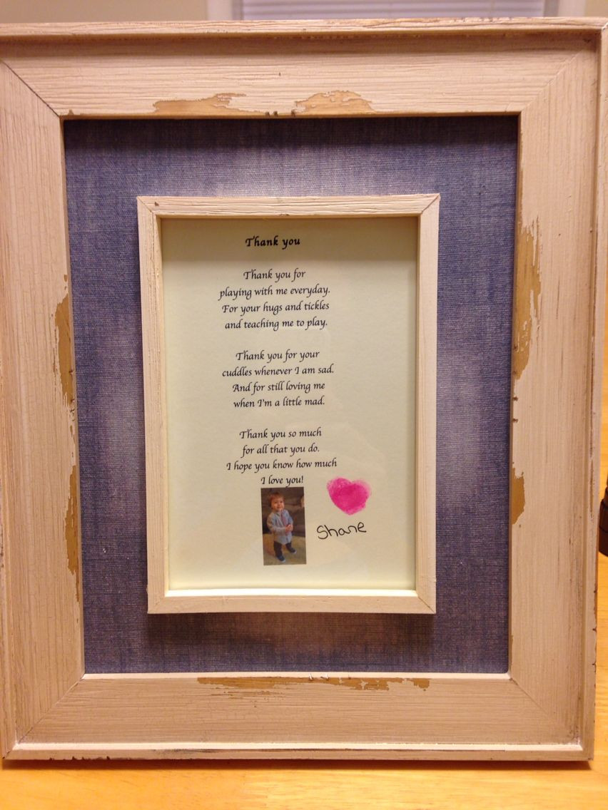 Gift Ideas For Babysitter Daycare Provider  Thank you t to daycare provider Craft