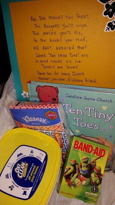 Gift Ideas For Babysitter Daycare Provider  21 best Provider Appreciation Day images on Pinterest