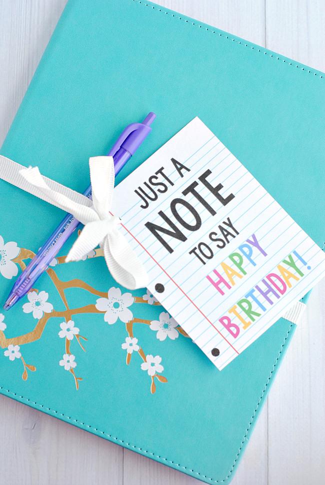 Gift Ideas For Birthday  Free Birthday Printables Eighteen25