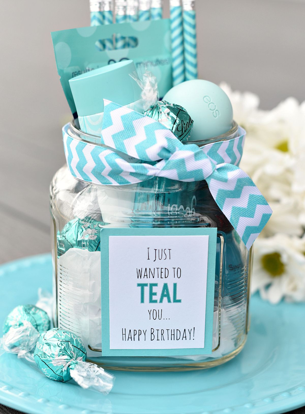 Gift Ideas For Birthday  Teal Birthday Gift Idea for Friends Confetti