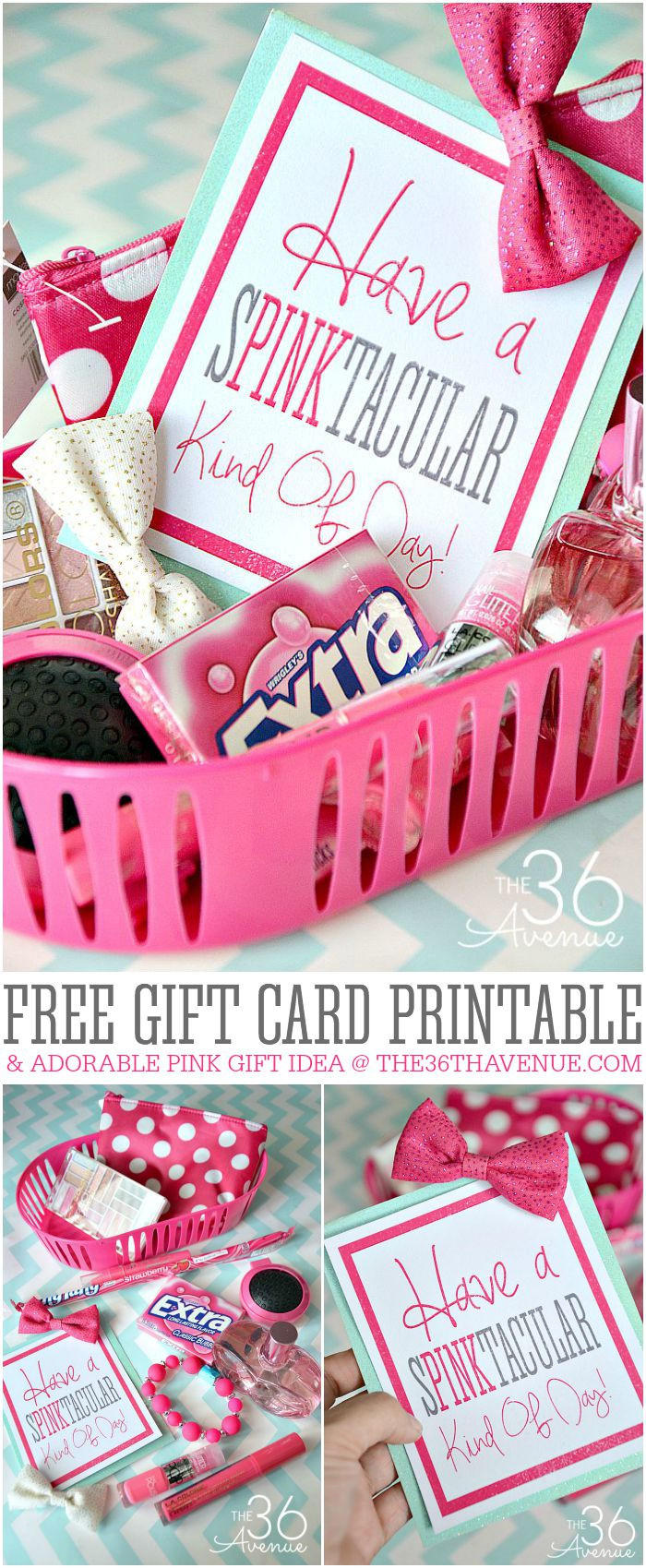Gift Ideas For Birthday  Gift Idea and Free Gift Card Printable The 36th AVENUE