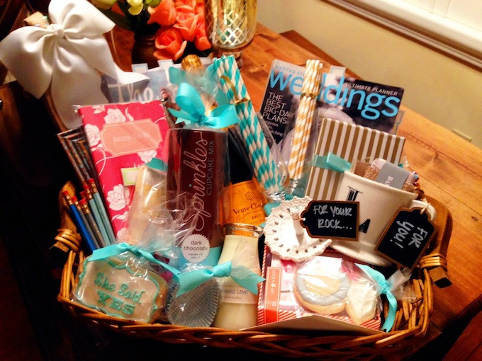 Gift Ideas For Engaged Couples  How To Engagement Gift Basket Hosting & ToastingHosting