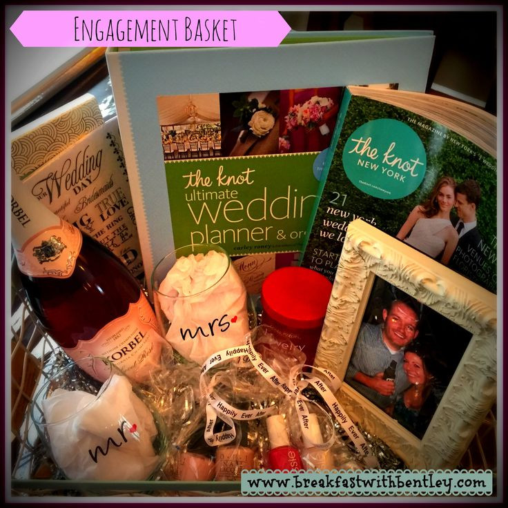 Gift Ideas For Engaged Couples  25 best Engagement t baskets ideas on Pinterest