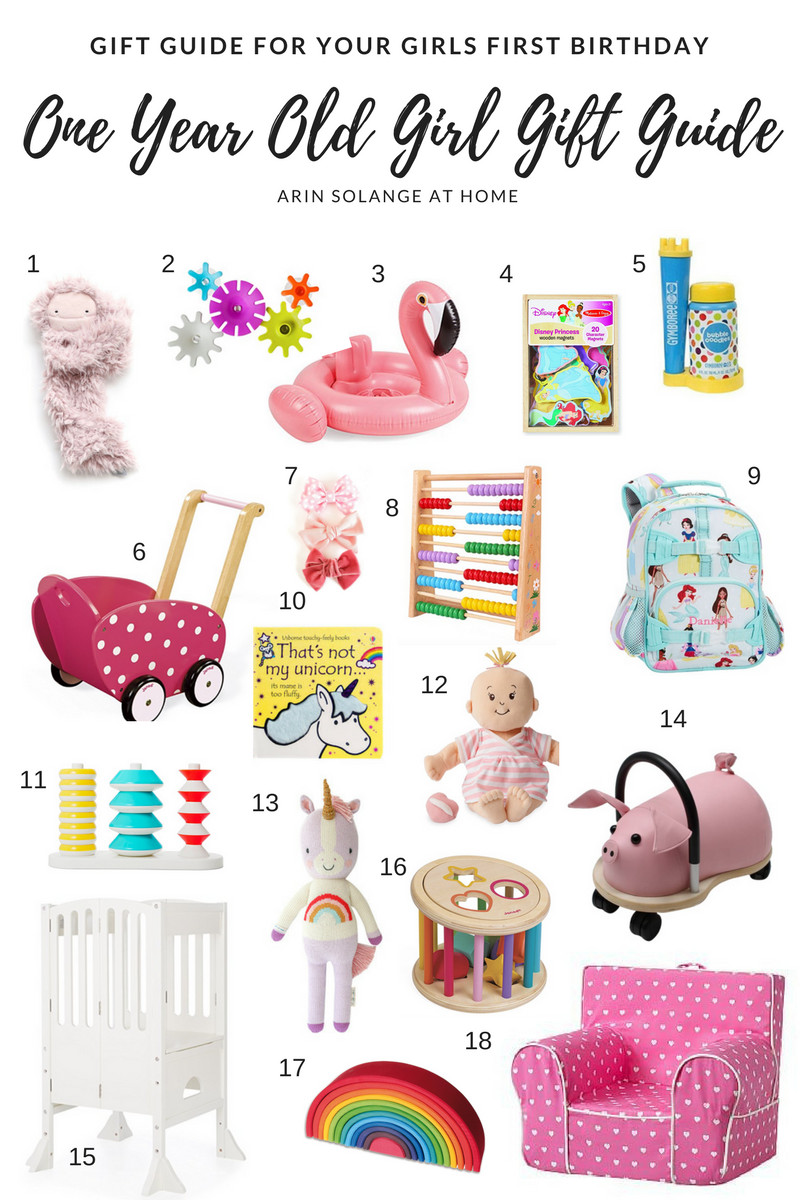 Gift Ideas For Girls First Birthday  e Year Old Girl Gift Guide arinsolangeathome
