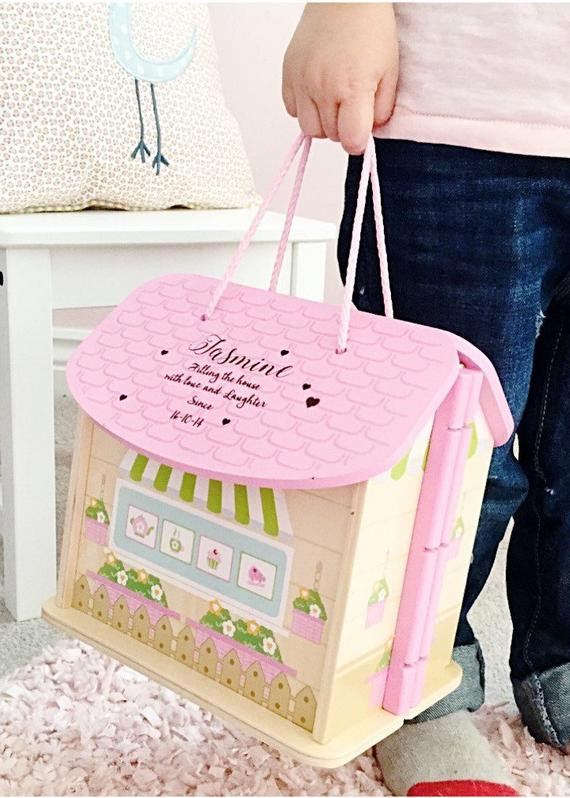 Gift Ideas For Girls First Birthday  Girls first birthday t personalised dolls house 1st