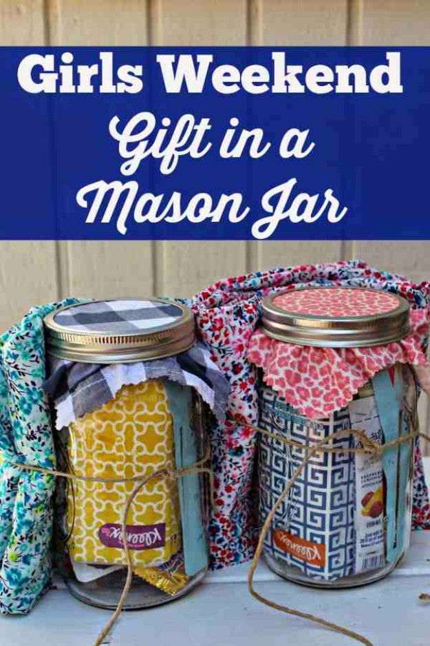 Gift Ideas For Girls Weekend  50 Best DIY Gifts in Mason Jars