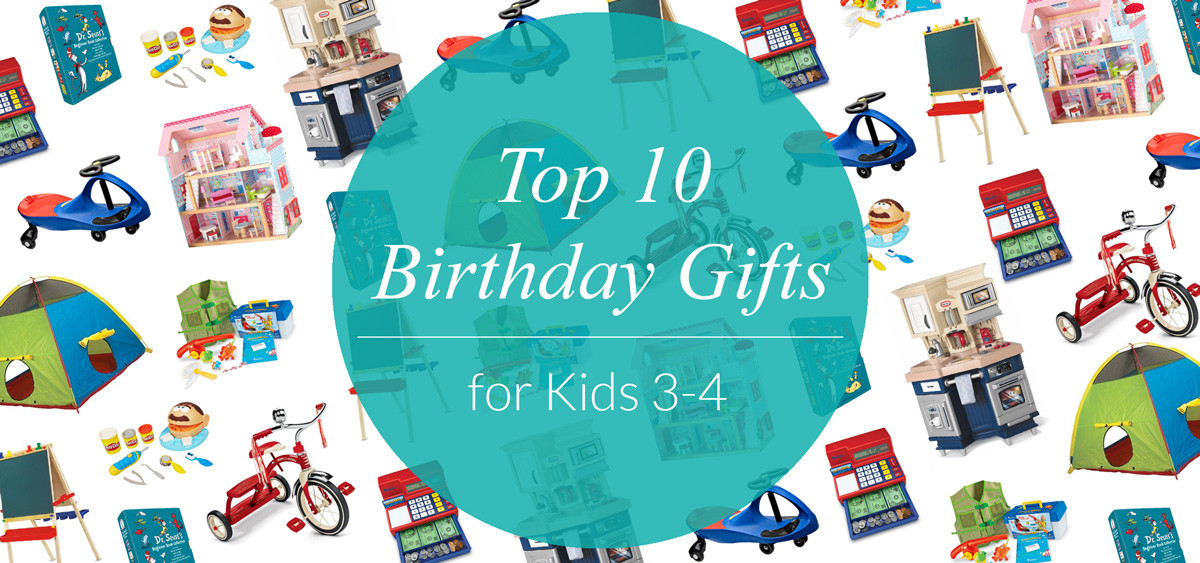 Gift Ideas For Mom'S Birthday  Top 10 Birthday Gifts for Kids Ages 3 4 Evite