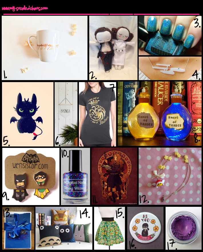 Gift Ideas For Nerdy Girlfriend  Holiday Gift Guide Handmade Gifts for Geek Girls My So