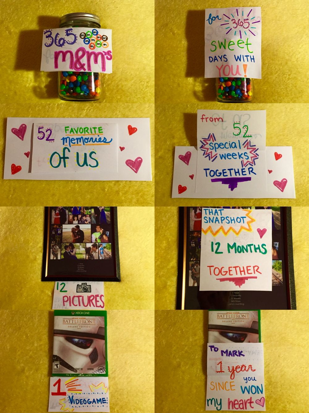 Gift Ideas For One Year Anniversary For Boyfriend  Made for my boyfriend for our 1 year anniversary