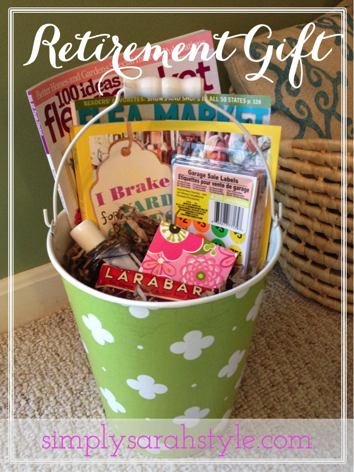 Gift Ideas For Retirement Party  Customizing a Retirement Gift Simply Sarah Style