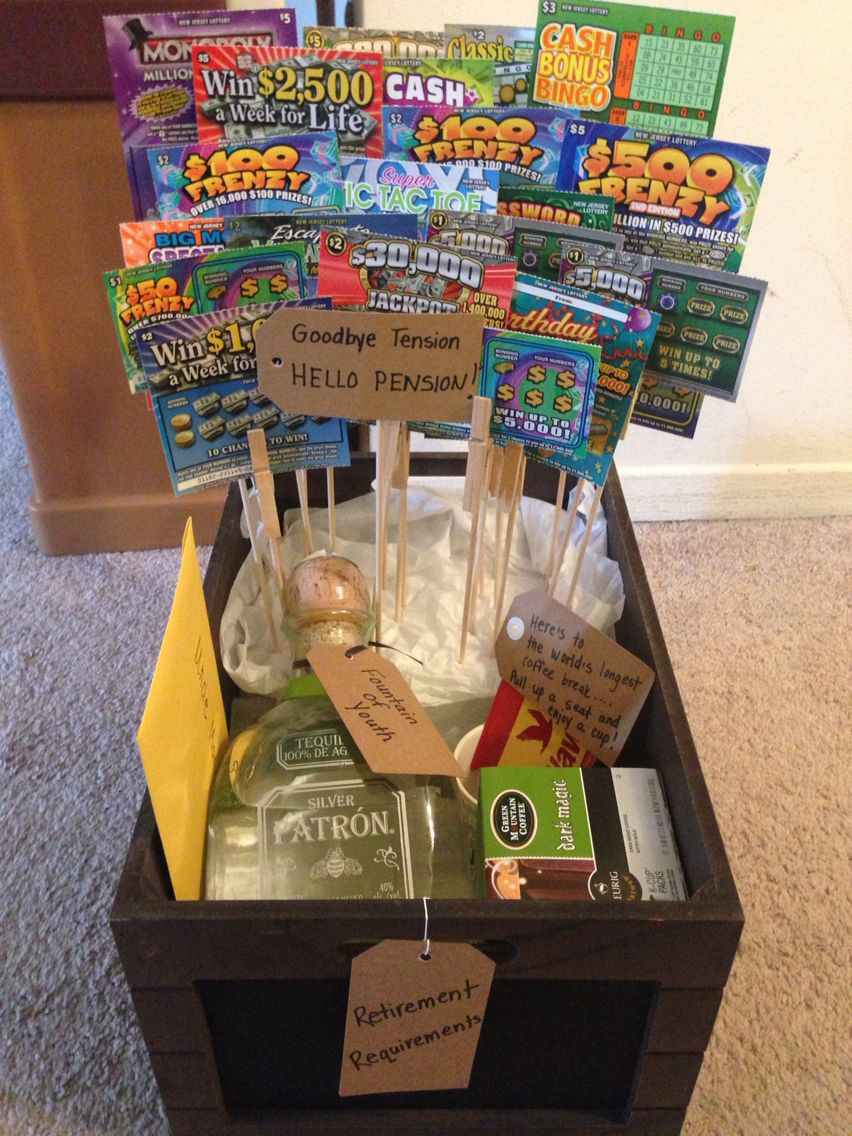 Gift Ideas For Retirement Party  Retirement Gift basket DIY Crafts Gifts