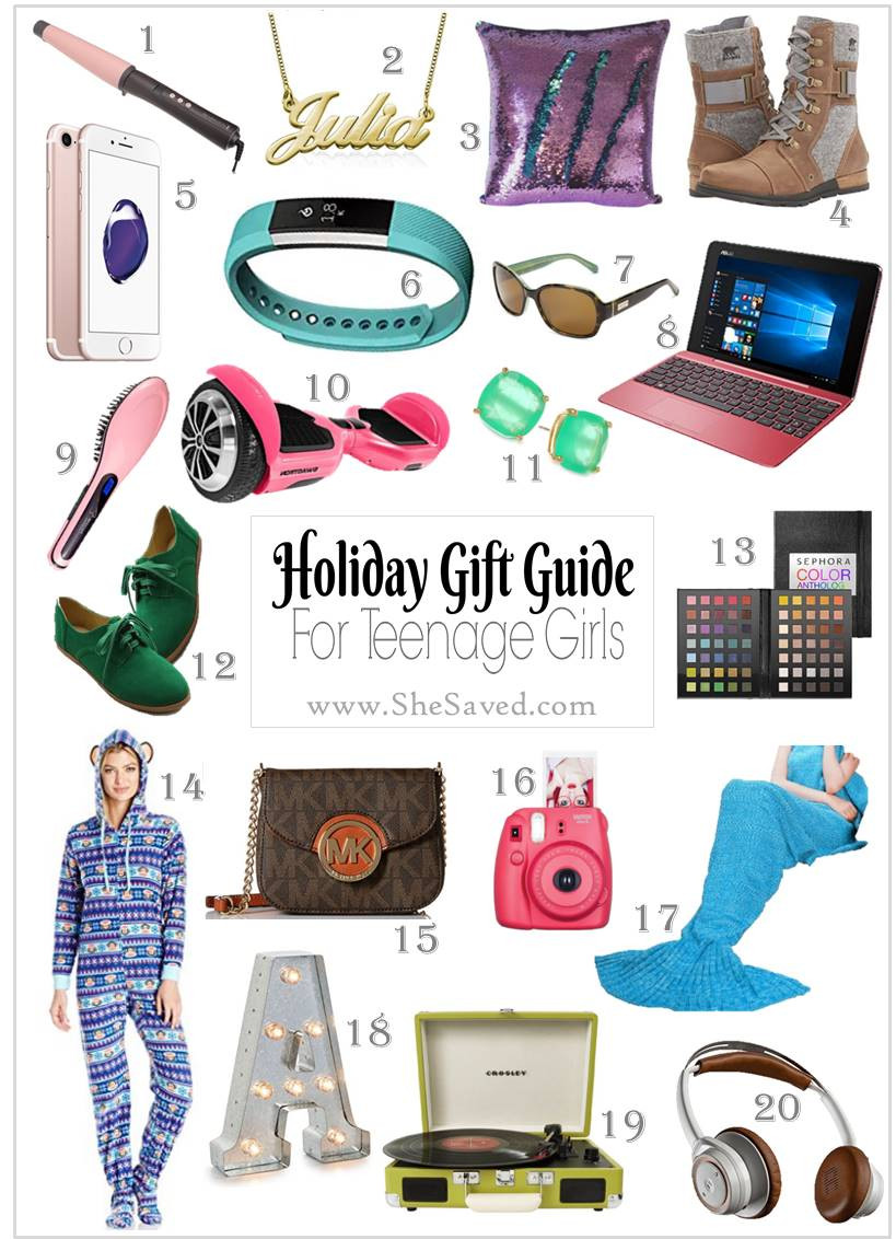 Gift Ideas For Teenage Girlfriend  HOLIDAY GIFT GUIDE Gifts for Teen Girls SheSaved