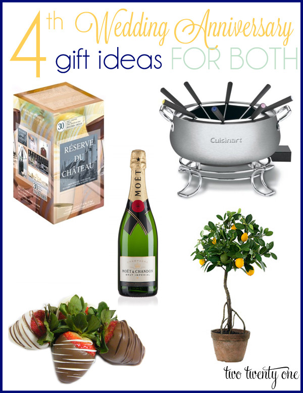 Gift Ideas For Wedding  4th Anniversary Gift Ideas