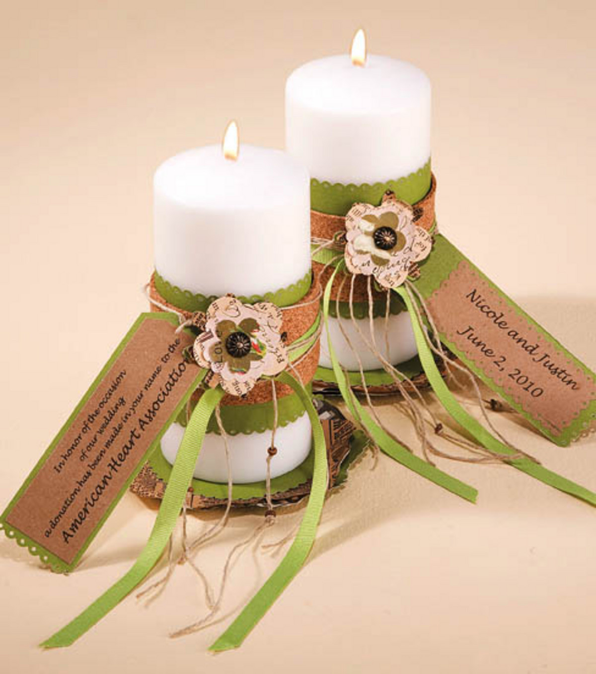 Gift Ideas For Wedding  Charitable Donation Candle Wedding Favors JoAnn