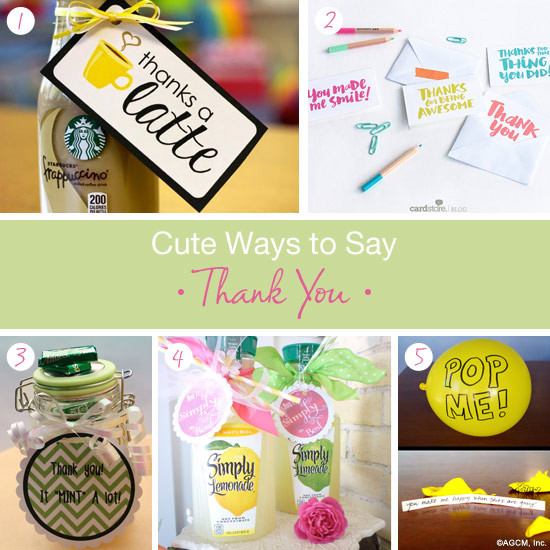 Gift Ideas Thank You  Cute thank you t ideas American Greetings Blog