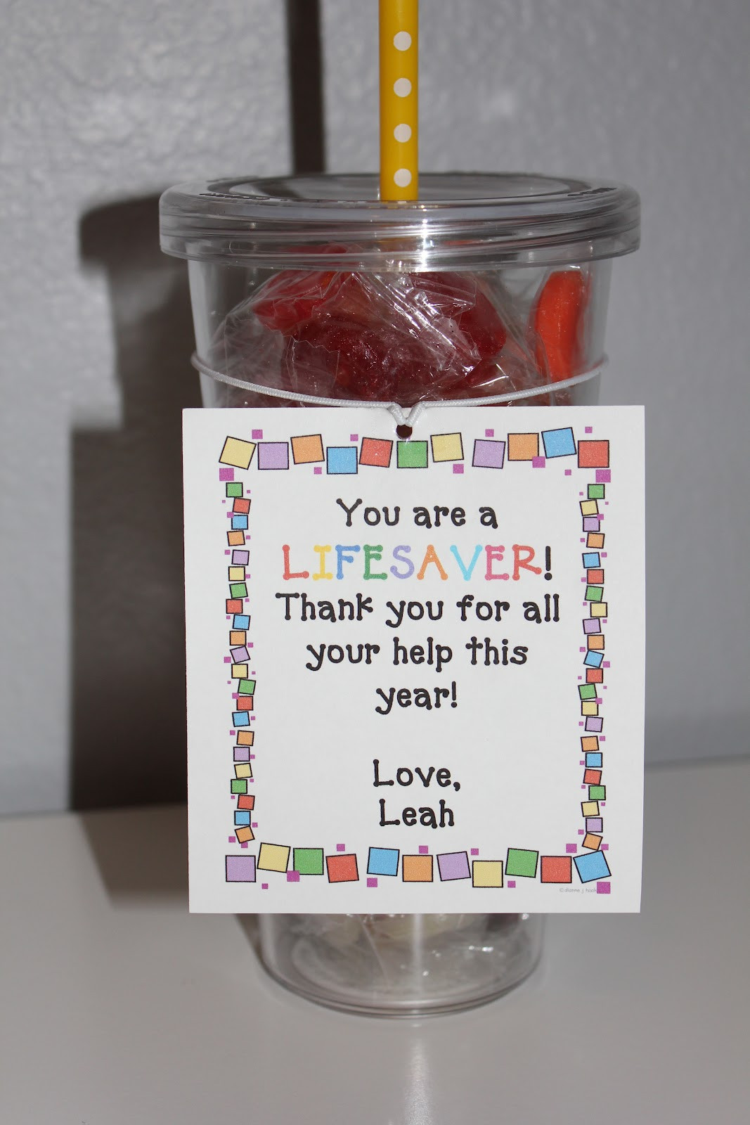 Gift Ideas Thank You  simply made with love End of the Year Gifts