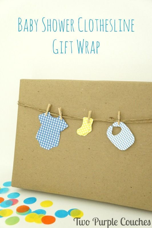 Gift Wrapping Ideas For Baby Showers  Best 25 Baby t wrapping ideas on Pinterest