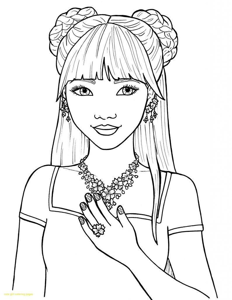 Girl Cartoon Coloring Pages  Coloring Pages for Girls Best Coloring Pages For Kids