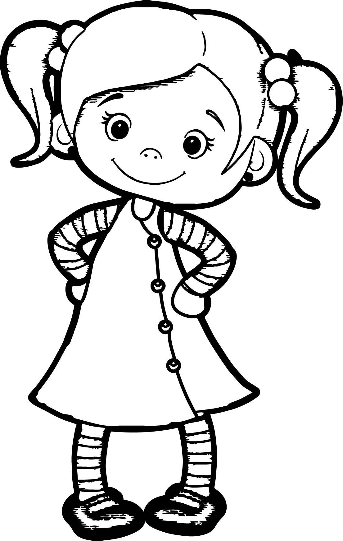 Girl Cartoon Coloring Pages  Cute Girl Cartoon Drawing at GetDrawings