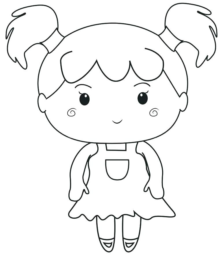 Girl Cartoon Coloring Pages  Cartoon Girl Coloring Pages at GetColorings