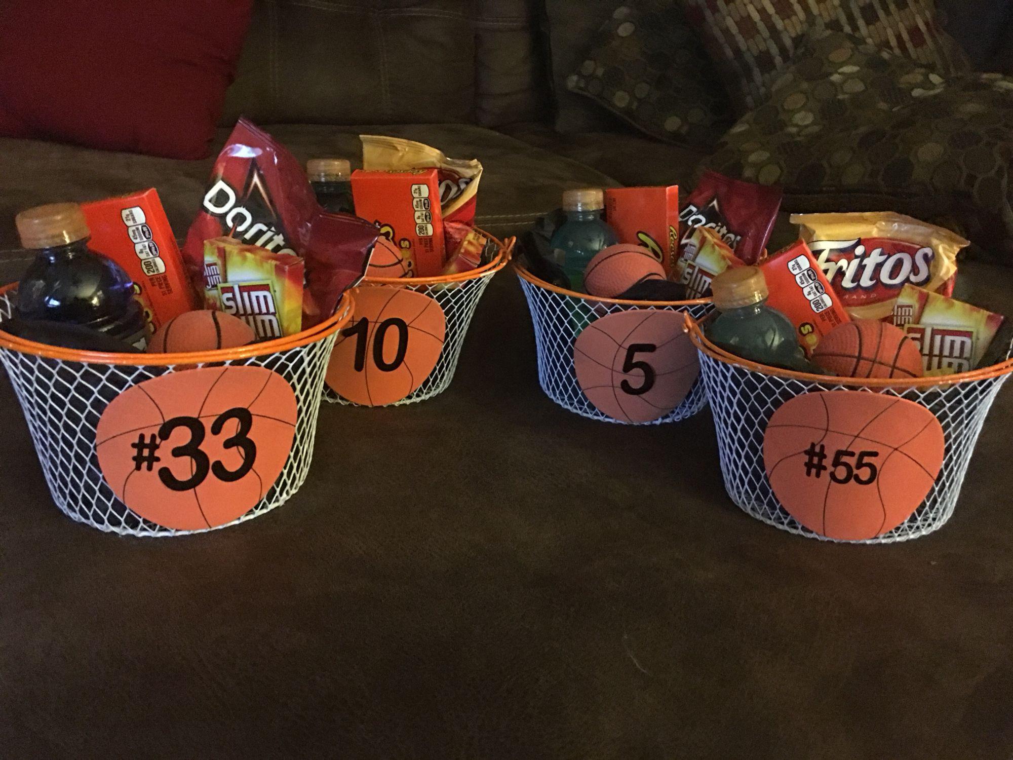 Girls Basketball Gift Ideas  8th grade Basketball t baskets