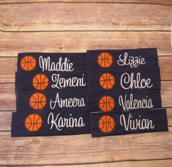 Girls Basketball Gift Ideas  Personalized Basketball Team Gifts Basketball Team Headbands